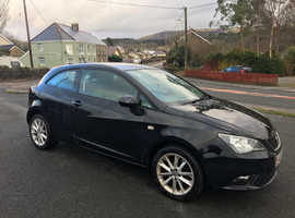Seat Ibiza, 2013 (63) Black Hatchback, Manual Petrol, 65,000 miles