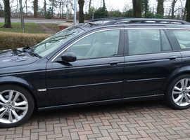 Jaguar X-TYPE, 2006 (56) Black Estate, Manual Diesel, 136,280 miles