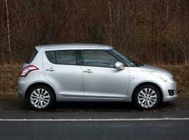 Suzuki Swift, 2012 (12) Silver Hatchback, Manual Petrol, 61,000 miles, 01443 831670