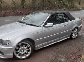 BMW 3 Series, 2004 (04) Silver Convertible, Manual Petrol, 94,100 miles