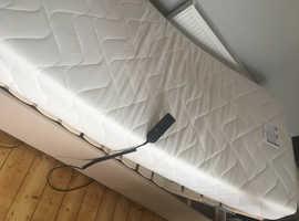 Bensons adjustable bed with memory foam mattress RRP £850
