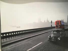 Large Print in Silver Frame of London Bridge