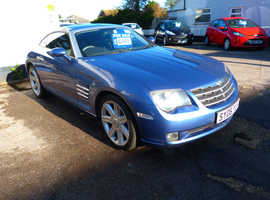 Chrysler Crossfire, 2006 (06) Blue Coupe, Automatic Petrol, 92,139 miles