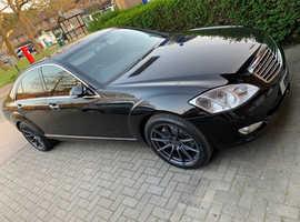 Mercedes S Class, 2008 (58) Black Saloon, Automatic Diesel, 70,000 miles