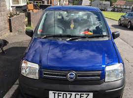 Fiat Panda, 2007 (07) Blue Hatchback, Manual Petrol, 81,000 miles