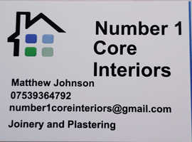 No 1 Core Interiors Joinery and Plastering