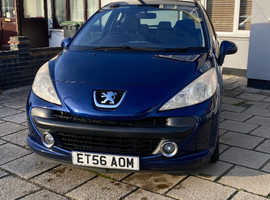 Peugeot 207, 2007 (56) Blue Hatchback, Manual Petrol, 64,000 miles