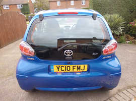 Toyota Aygo, 2010 (10) blue hatchback, Manual Petrol, 63,088 miles