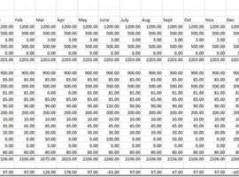 Full Working (adaptable) Budgeting Spreadsheet