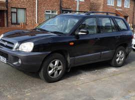 Hyundai Santa Fe, 2006 (06) Black Estate, Manual Diesel, 137,000 miles