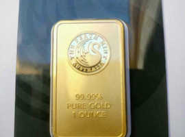 One Ounce .9999 Pure Gold Bars