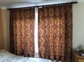 Curtains-x2 Sets plus poles