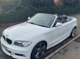 BMW 1 series, 2011 (11) white convertible, Manual Petrol, 74500 miles