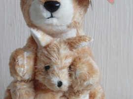 TY beanie Ricohet 2007 Kangaroo with baby