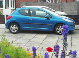 Peugeot 207, 2007 (07) Blue Hatchback, Manual Petrol, 60,000 miles