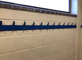 Hook Rails for changing rooms.