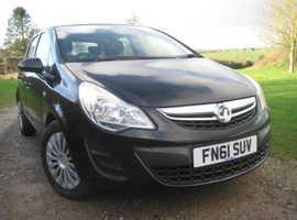Vauxhall Corsa 1.3 CDTi Exclusiv, 2011 (61) Black Hatchback, Manual Diesel, 84,210 miles