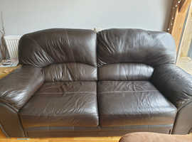 Faux leather 3 seater sofa - good condition and very comfortable