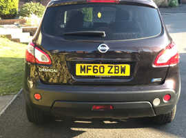 Nissan Qashqai, 2010 (60) black hatchback, Manual Diesel, 107,000 miles