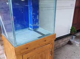 Custom built fish tank and cabinet