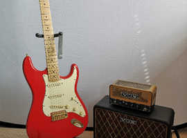 Stratocaster Guitar and Vox Li'l Night Train valve practice amp Beginner Friendly, all you need