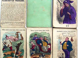 Illustrated Provebs playing cards 1870