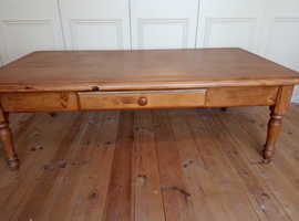 Large solid pine coffee table