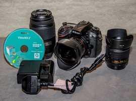 Nikon D7100 DSLR Camera plus 3 lenses.