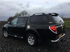 Mitsubishi L200 Barbarian, 2013 (63) Black 4x4, Automatic Diesel, 55,500 miles