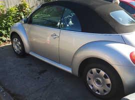 Volkswagen Beetle, 2004 (04) Silver Convertible, Manual Diesel, 208,410 miles