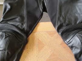 Dainese-PONY C2 BIKER LEATHERS , Black, Size 54