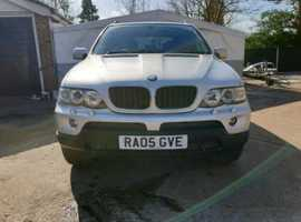 BMW X5, 2005 (05) Silver Estate, Automatic Diesel, 155,000 miles