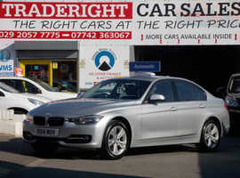 2014/14 BMW 320d 2.0 Sport Automatic finished in Reflex Silver Metallic. 22,216 miles