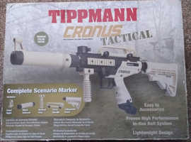 TIPPERMANN CRONUS PAINT BALL MARKER FIRES PAINT BALLS AND RUBBER BALLS