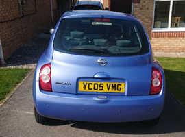 Nissan Micra, 2005 (05) Blue Hatchback, Manual Petrol, 44,050 miles