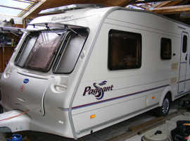 2003 Bailey Pageant Vendee, fixed bed 4 berth caravan, awning, free extras, ready to use now.