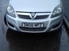 Vauxhall Zafira, 2008 (08) Silver MPV, Manual Petrol, 116 miles