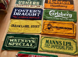 Rare Breweriana. Vintage but UNUSED beer bar towels from the 1970's