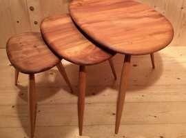 Vintage Ercol Pebble Nest of Tables (354) - Fully Refurbished