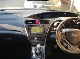 Honda Civic, 2012 (12) Green Hatchback, Manual Petrol, 97,956 miles