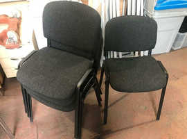 Black Stackable Chairs with Black Frame