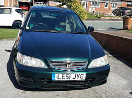 Honda Accord, 2002 (51) Green Hatchback, Automatic Petrol, 91,506 miles