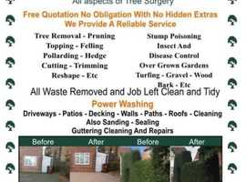 J.W Tree Care And Power Washing For All Your Gardens Needs