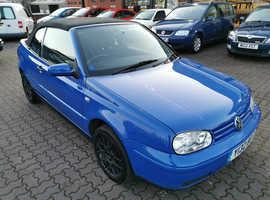Volkswagen GOLF CABRIOLET, 2001 (Y) Blue Convertible, Manual Petrol, 100,308 miles