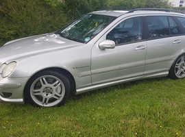 Mercedes C32 AMG, 2003 (03) Silver Estate, Semi Automatic, Petrol, 139,000 miles