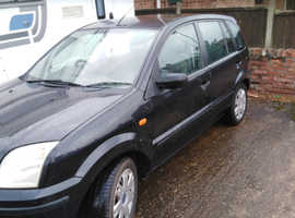 Ford Fusion, 2003 (03) Black Hatchback, Manual Petrol, 14,000 miles
