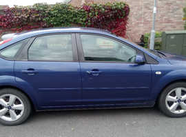 Ford Focus Zetec, 2008 (08) Blue Hatchback, Manual Petrol, 85,530 miles