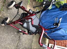 Mobility walker , wheel chair