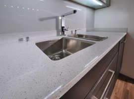 Cheap Price White Mirror Quartz Kitchen Worktop - Astrum Quartz
