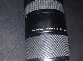 Tokina AT-X AF 80-400mm F4.5-5.6 lens for Nikon.